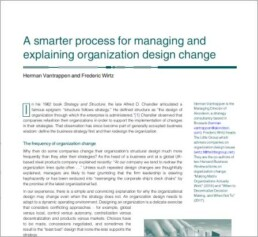 A smarter process for managing and explaining organization design change