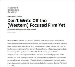 Don't Write Off the (Western) Focused Firm Yet