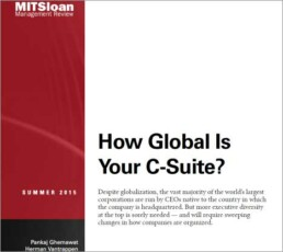 How Global Is your C-Suite?