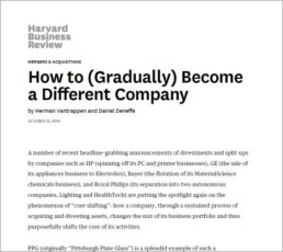 How to gradually become a different company