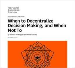 When to Decentralize Decision Making, and When Not To