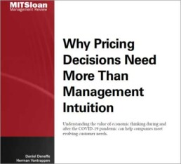 why pricing decisions need more than management intuition